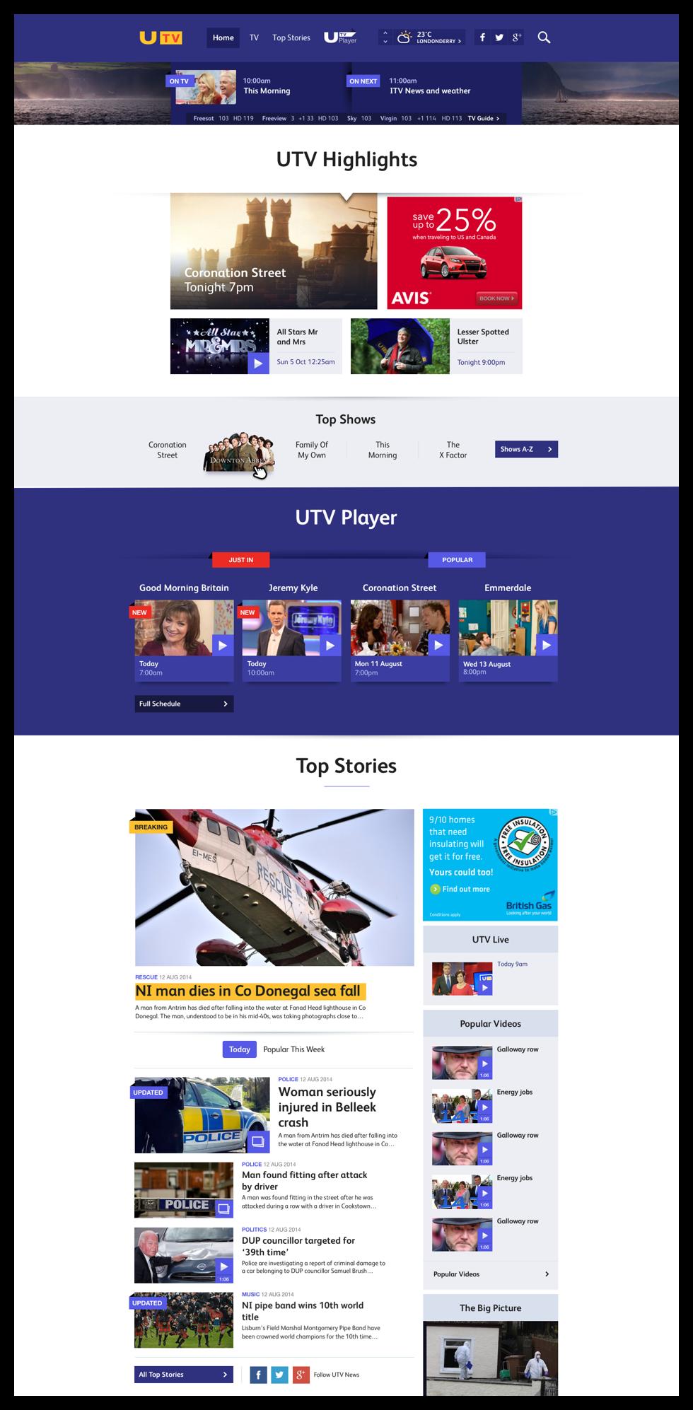 utv - homepage final render